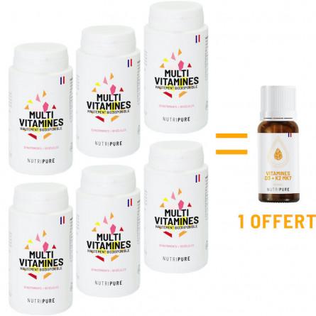 Pack 6 multivitamines acheté vitamine D offerte